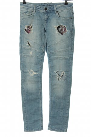 Fishbone Skinny Jeans blau Casual-Look