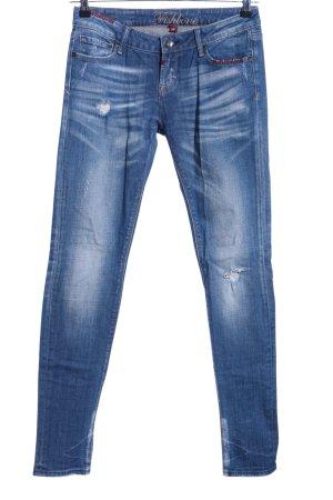Fishbone Slim Jeans blau Casual-Look
