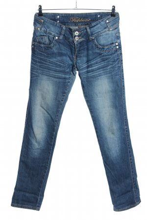Fishbone Jeans slim bleu style décontracté