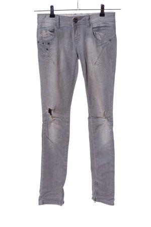 Fishbone Slim Jeans hellgrau Casual-Look
