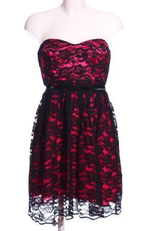 Fishbone Spitzenkleid pink-schwarz Elegant