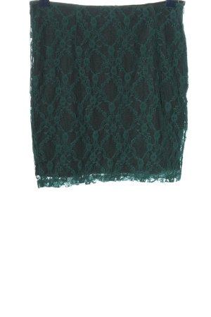 Fishbone Falda de encaje negro-gris claro Patrón de tejido look casual