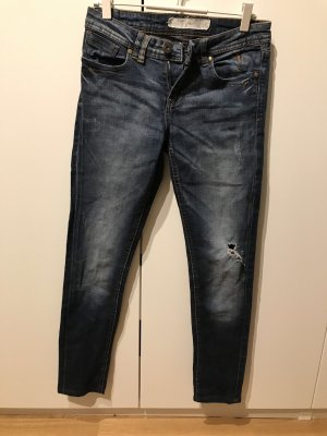 Fishbone Straight Leg Jeans