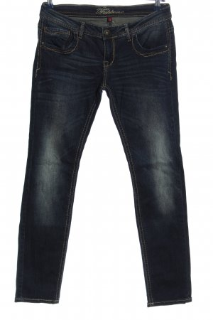 Fishbone Slim Jeans blau Casual-Look