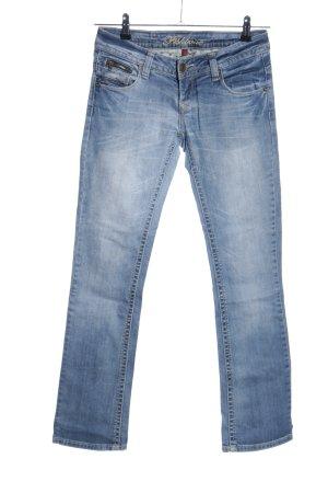 Fishbone Straight-Leg Jeans blau Casual-Look