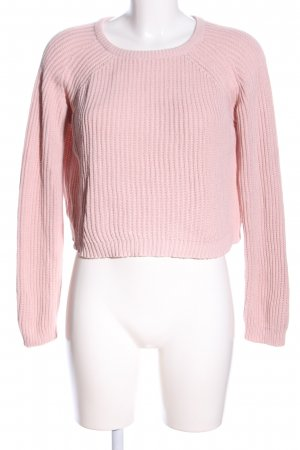 Fishbone Strickpullover pink Casual-Look