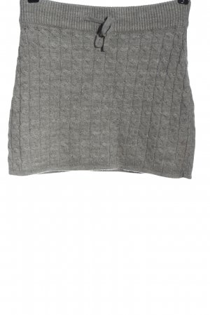 Fishbone Knitted Skirt light grey casual look