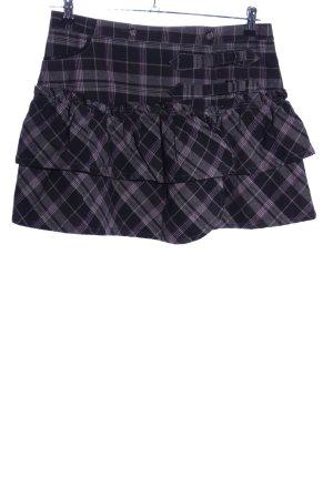 Fishbone Broomstick Skirt check pattern casual look