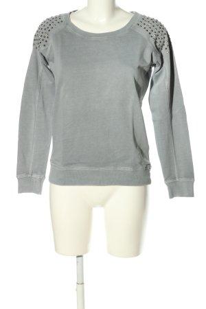 Fishbone Sweatshirt hellgrau Casual-Look