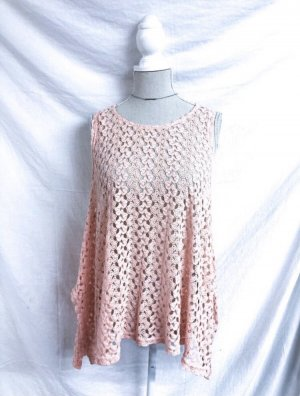 Fishbone Crochet Top multicolored