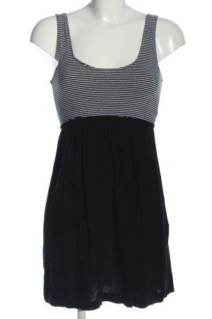 Fishbone Trägerkleid schwarz-weiß Streifenmuster Casual-Look