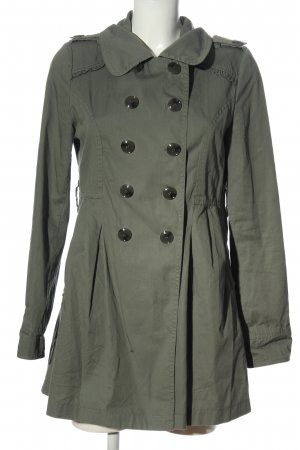 Fishbone Cappotto mezza stagione verde-grigio chiaro elegante