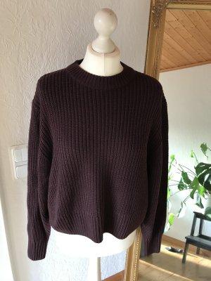 Monki Oversized Sweater blackberry-red