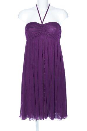 Vestido de cuello Halter lila elegante