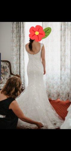 Robe de mariée blanc cassé-blanc coton