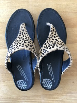Fitflop Sandalo toe-post nero-marrone