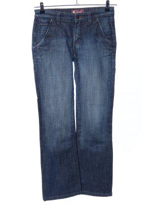 Jeans a gamba dritta blu stile semplice