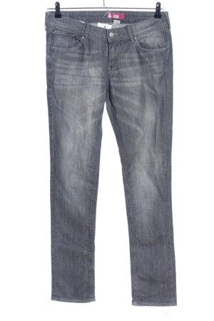 Straight-Leg Jeans hellgrau Casual-Look