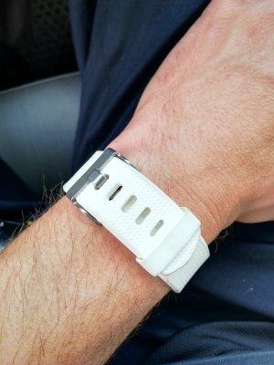 fitbit Reloj digital blanco puro