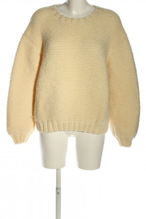 fitbuddha Strickpullover creme Webmuster Casual-Look