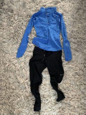 Nike Pantalón de vestir negro-azul neón