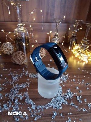 Reloj digital negro-azul