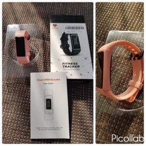Reloj digital rosa claro