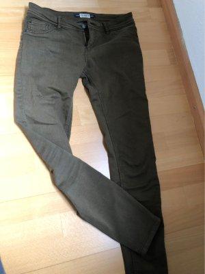 Pull & Bear Drainpipe Trousers khaki