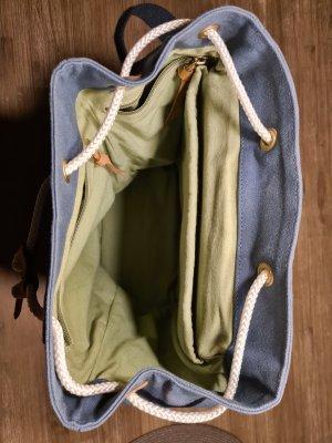 Fitz&Huxley Mochila para portátiles marrón claro-azul