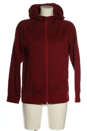 FitZ Giacca con cappuccio rosso-nero stampa integrale stile casual