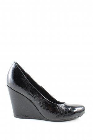 FitZ Keil-Pumps schwarz Business-Look