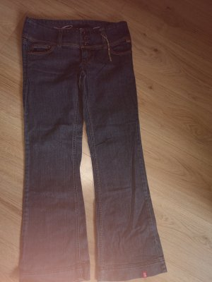 edc by Esprit Boot Cut Jeans dark blue cotton