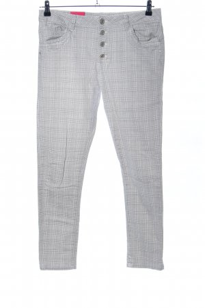 Five-Pocket Trousers light grey allover print casual look