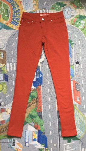 Justine.Z Five-Pocket Trousers red