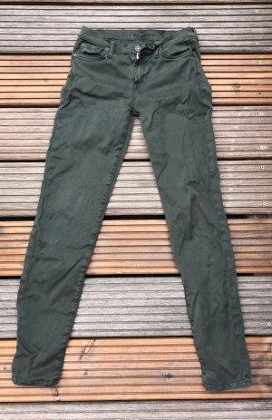 Five Pocket Jeans in Dunkelgrün von 7 for Allmankind