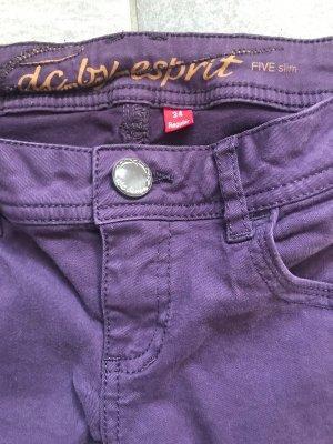 edc by Esprit Pantalone cinque tasche viola-grigio