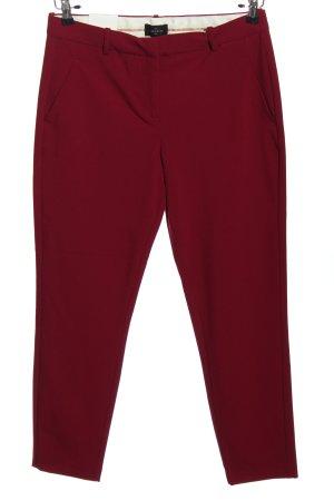 Fiveunits Pantalon «Baggy» rouge style d'affaires