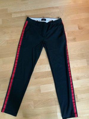 Fiveunits Pantalón tobillero negro-rojo
