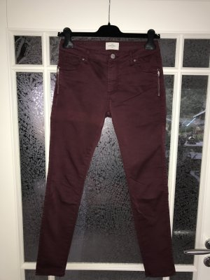 FIVEUNITS / Skinny Jeans PENELOPE / weinrot / Gr. 27