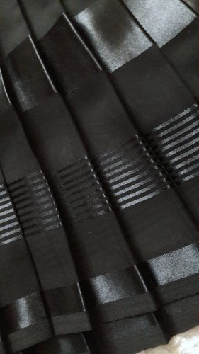 Plisseerock Faltenrock schwarz Gr. 38 Made in Italy Elegant, Klassisch, Steampunk Goth Punk