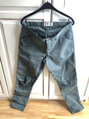 Fjällräven Pantalon cargo gris vert-bleu cadet tissu mixte