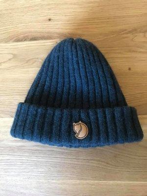Fjällräven Cappello a maglia blu scuro Lana