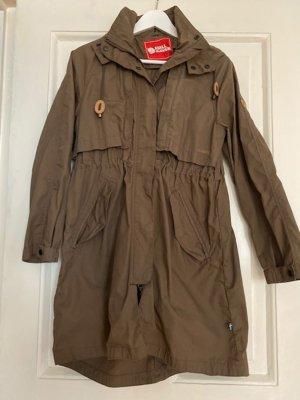 Fjällräven Abrigo de entretiempo marrón claro tejido mezclado