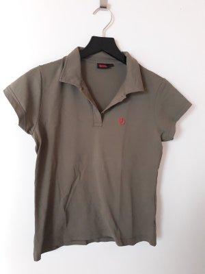 Fjallraven Camiseta tipo polo verde oliva