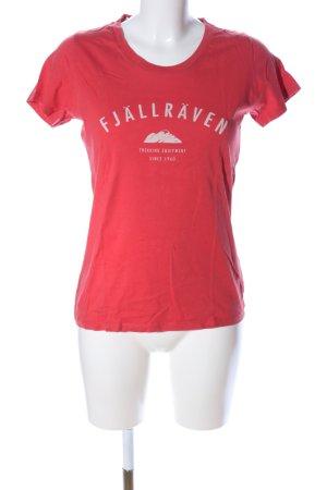 Fjällräven Print-Shirt rot-weiß Casual-Look