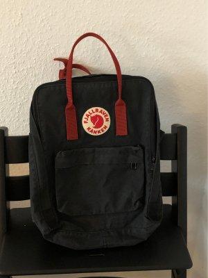 Fjällräven Zaino per la scuola nero-rosso scuro
