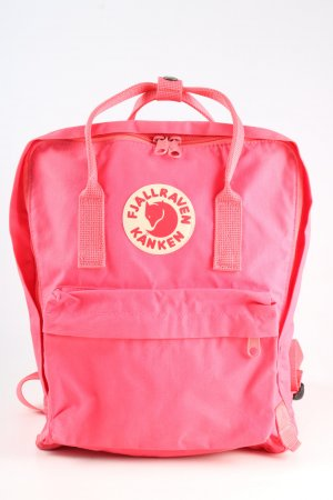 Fjällräven School Backpack pink-white themed print casual look