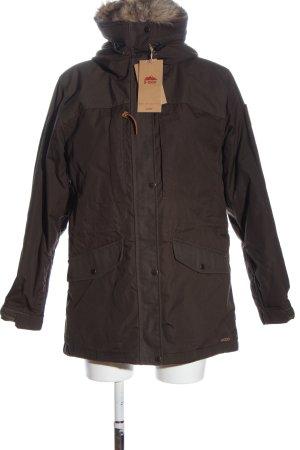 Fjällräven Winter Jacket brown casual look