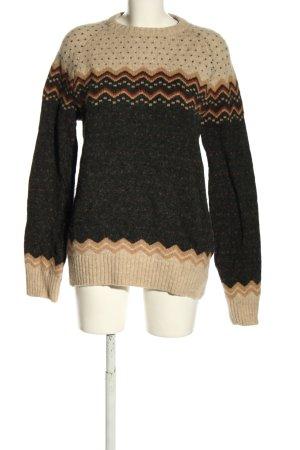 Fjällräven Wool Sweater black-cream allover print casual look