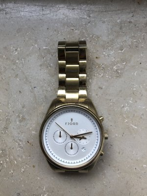 FJORD Analog Watch white-gold-colored metal